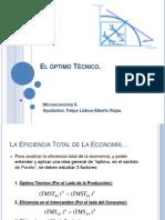 El_óptimo_Técnico y eficiencia en el intercambio