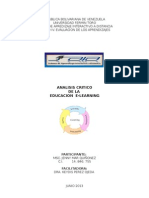 Analisis Critico de Educ. E-Learning