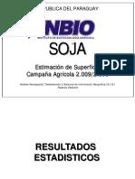 SOJA - Estimación de superficie campaña agrícola 2009 - 2010