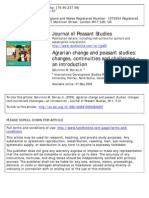 Borras, Saturnino 2009 'Agrarian Change and Peasant Studies-- Changes, Continuties and Challenges-- An Introduction' JPS, Vol. 36, No. 1 (Pp. 5--31)