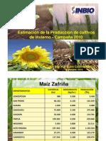 Estimación de la producción de cultivos de invierno, Paraguay, año 2010