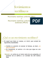 Movimientos Rectilineo