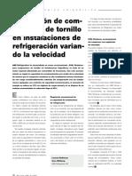 18-23m184 Regulación de la capacidad de compresores de tornillo en sistemas frigoríficos por variación d