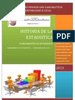 Historia de La Estadistica Monografia