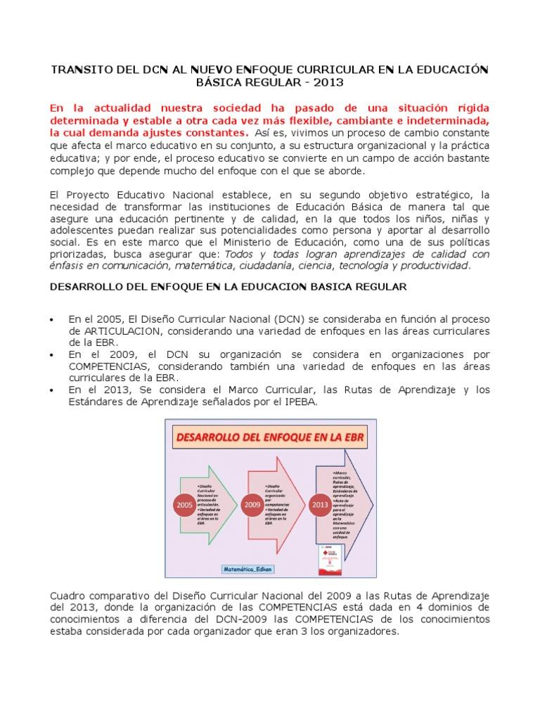 Transito Del Dcn Al Nuevo Enfoque Curricular