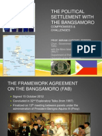 The Political Settlement With the Bangsamoro