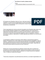 Presidente Funes Cuarto Informe