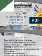 Arq. Agustin Adarve - La Importancia Del Acero en La Arquitectura Bioclimatica