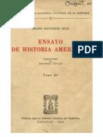 Felipe Salvador Gilij, Antonio Tovar Ensayo de historia americana 3 De la religión y de las lenguas de los orinoquenses y de los otros americanos    1965