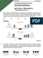 Solucionario – CEPREUNMSM – 2011-II – Boletín 11 – Áreas Academicas A, D y E