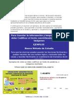 Ejemplo Como Estudiar Gramatica El Universo Lcdo Carrillo
