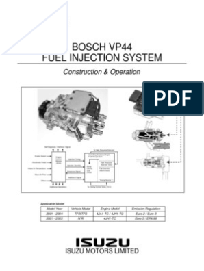 Bosch Ve Pump Operation