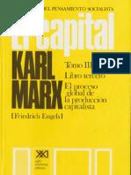 Karl Marx - El Capital Libro III Volumen VIII (S. XXI)