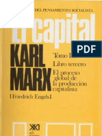 Karl Marx - El Capital Libro III Volumen VI (S. XXI)