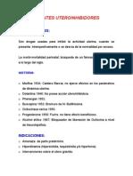 AGENTES UTEROINHIBIDORE1