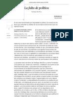 La falta de política _ Edición impresa _ EL PAÍS