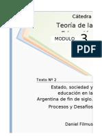 1238307782.02 - Filmus - Estado Sociedad y Educacion en La Argentina