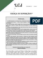 CRENCA OU SUPOSICAO - Jose Carlos Lucchetta Palermo