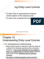 Audit II Chapt 10 - Understanding Entiry Level Control