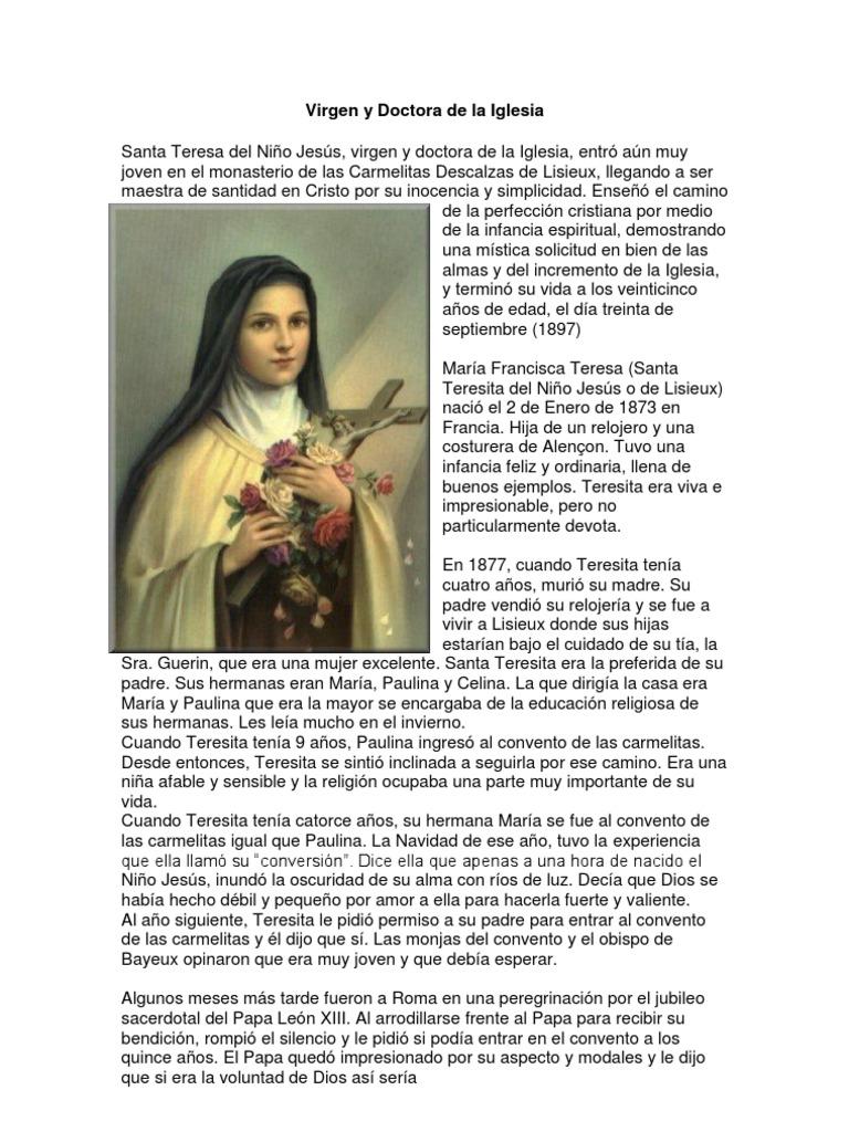 Santa Teresita Del Niño Jesus