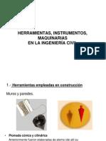 herramientas, instrumentos, maquinarias en ingeniería civil