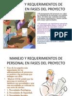 Manejo y Requerimientos de Personal en Fases Del