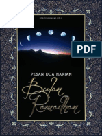 Pesan Doa Harian Bulan Ramadhan
