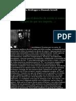 Carta de Martin Heidegger a Hannah Arendt