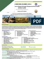 ACM IMCOM 2014 - Call for Papers