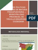 Analisis de Politicas Publicas Sectoriales Presupuestaria de La Municipalidad Provincial de Trujillo
