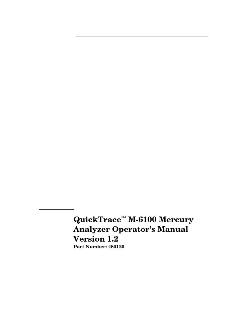 M40 Op Manual Mercury Analyzer   Electrical Connector ...