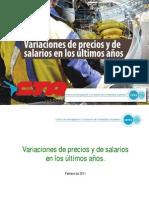 CIFRA-CTA Variacion Precios y Salarios 2002-2010