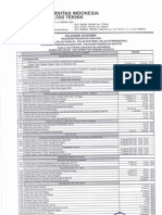 Kalender Akademik FT UI Semester Genap Semester Pendek 2012-2013