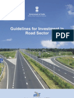 Guidelines for Investment in Road Sector (as on 15 January 2013)