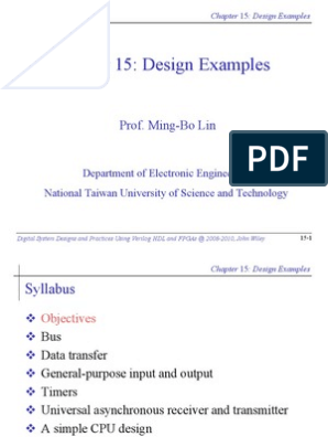 Design Examples-Digital System Designs and Practices Using