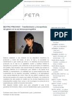 """BEATRIZ PRECIADO - Transfeminismo y micropolíticas del género en la era farmacopornográfica"""""""