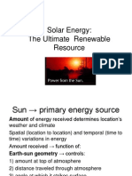 Solar Energy Basics