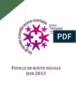 Feuille de Route Sociale 2013