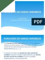 Funciones de Varias Variables Diapos