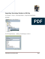 Importing Knowledge Modules Odi 10g and 11g