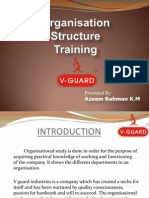 organisational structure of v guard in kerala