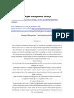 Apple Management Change