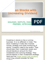 Indian Stocks With Increasing Dividend