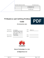 W-Handover and Call Drop Problem Analysis