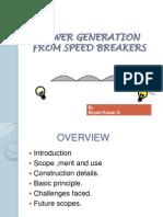 POWER GENERATION FROM SPEED BREAKERS