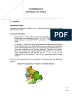 Informe Tecnico de Identificacion Del Terreno