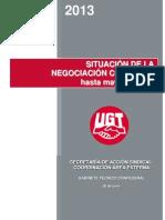 Informe Situacin de La Negociacin Colectiva Hasta Mayo de 2013_UGT