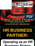 Operating as an HR Business Partner