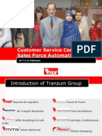 Presentation on TCS Customer Service Center & Sales Force Automation