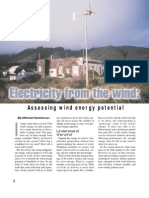 (eBook - Free Energy) - Electricity From the Wind--Assessing Wind Energy Potential